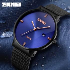 SKMEI Jam Tangan Analog Pria Stainless Steel - 9164 - Black - 4