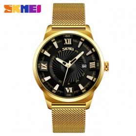 SKMEI Jam Tangan Analog Pria Stainless Steel - 9166 - Black