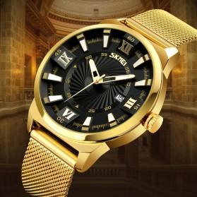 SKMEI Jam Tangan Analog Pria Stainless Steel - 9166 - Golden - 2