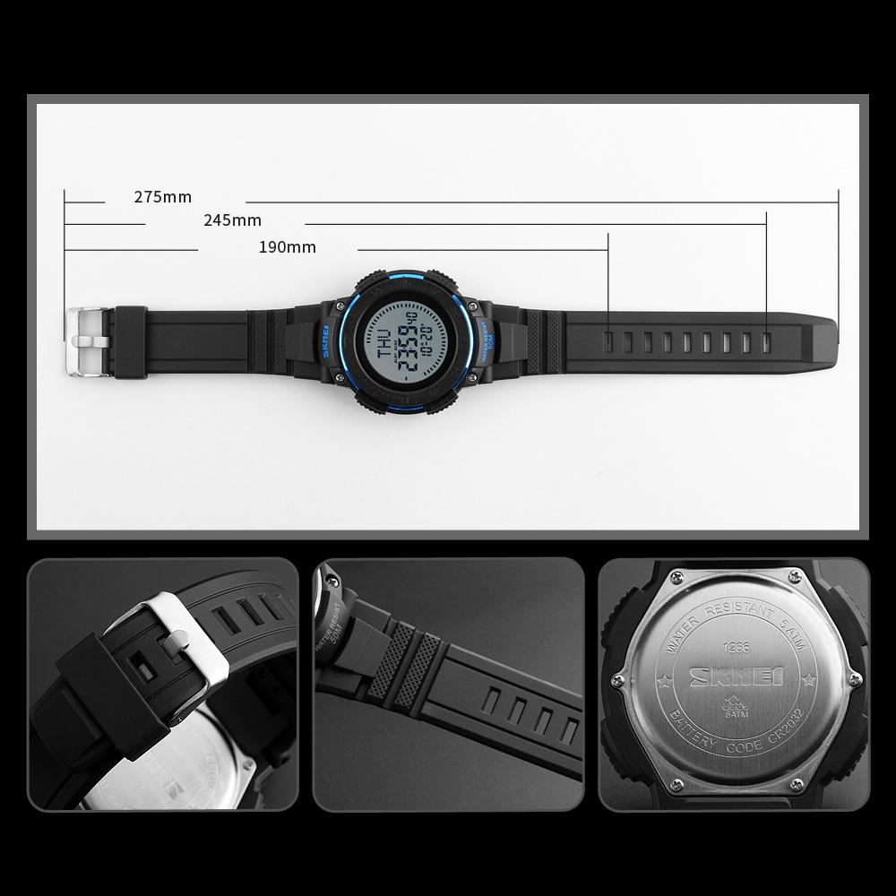Skmei Jam Tangan Digital Multifungsi Pria 1236 Black Dg1231cm 7