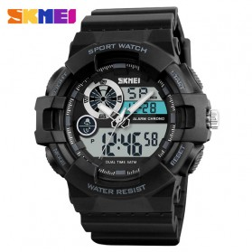 SKMEI Jam Tangan Digital Analog Pria - 1312 - Black