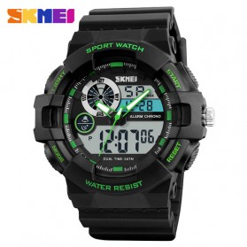 SKMEI Jam Tangan Digital Analog Pria - 1312 - Black/Green