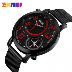 SKMEI Jam Tangan Kasual Pria Stainless Steel - 9168 - Red - 2