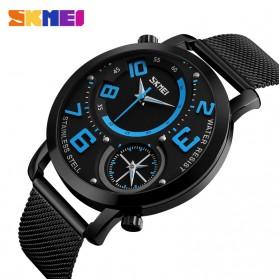 SKMEI Jam Tangan Kasual Pria Stainless Steel - 9168 - Blue - 2