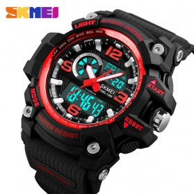 SKMEI Jam Tangan Digital Analog Pria - 1283 - Black/Red