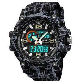 SKMEI Jam Tangan Digital Analog Pria - 1283 - Gray/Black - 1