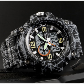 SKMEI Jam Tangan Digital Analog Pria - 1283 - Gray/Black - 2