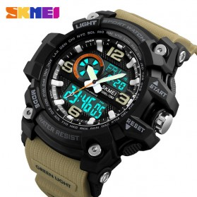 SKMEI Jam Tangan Digital Analog Pria - 1283 - Coffee