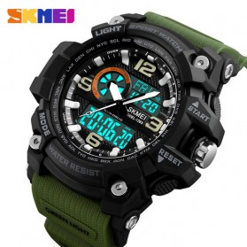 SKMEI Jam Tangan Digital Analog Pria - 1283 - Army Green