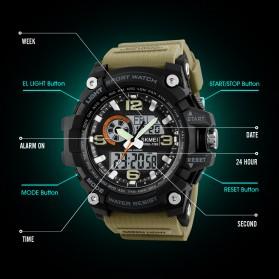 SKMEI Jam Tangan Digital Analog Pria - 1283 - Army Green - 5
