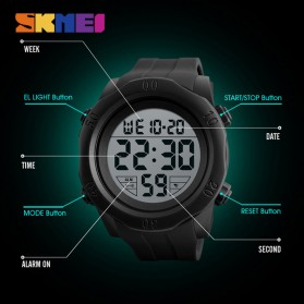 SKMEI Jam Tangan Digital Pria - 1305 - Black - 5