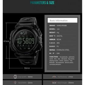 SKMEI Jam Tangan Olahraga Smartwatch Bluetooth - 1303 - Black Blue - 9