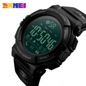 SKMEI Jam Tangan Olahraga Smartwatch Bluetooth - 1303 - Black/Black - 2
