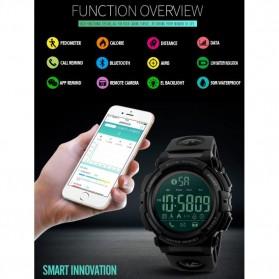 SKMEI Jam Tangan Olahraga Smartwatch Bluetooth - 1303 - Black/Black - 3