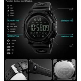 SKMEI Jam Tangan Olahraga Smartwatch Bluetooth - 1303 - Black/Black - 4