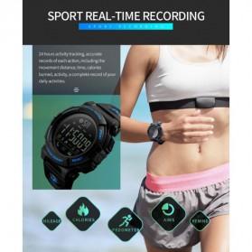SKMEI Jam Tangan Olahraga Smartwatch Bluetooth - 1303 - Black/Black - 5