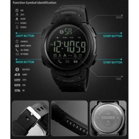 SKMEI Jam Tangan Olahraga Smartwatch Bluetooth - 1301 - Black - 3