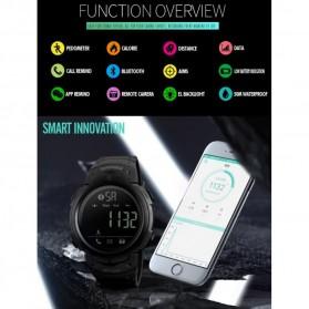 SKMEI Jam Tangan Olahraga Smartwatch Bluetooth - 1301 - Black - 4