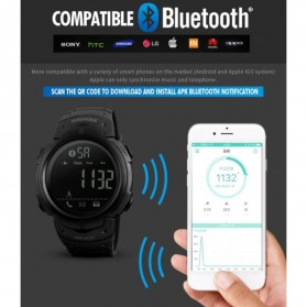 SKMEI Jam Tangan Olahraga Smartwatch Bluetooth - 1301 - Army Green - 6