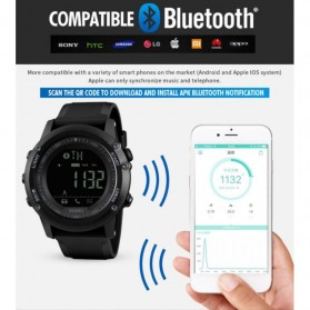 SKMEI Jam Tangan Olahraga Smartwatch Bluetooth - 1321 - Black - 6