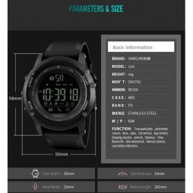 SKMEI Jam Tangan Olahraga Smartwatch Bluetooth - 1321 - Red - 8