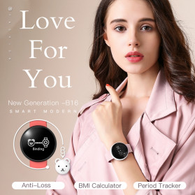 SKMEI Bozlun Jam Tangan Digital Smartwatch - B16 - Black - 3