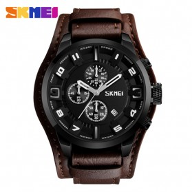 SKMEI Jam Tangan Analog Pria - 9165 - Brown/Black