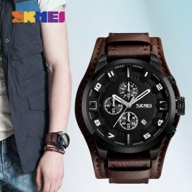 SKMEI Jam Tangan Analog Pria - 9165 - Brown/Black - 4