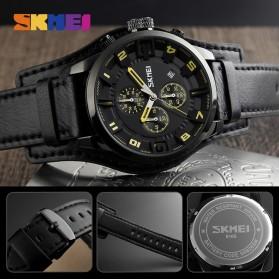 SKMEI Jam Tangan Analog Pria - 9165 - Brown/Black - 5