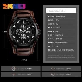 SKMEI Jam Tangan Analog Pria - 9165 - Brown/Black - 6