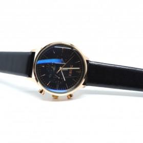 SKMEI Jam Tangan Analog Pria Leather Strap - 9108 - Black Gold
