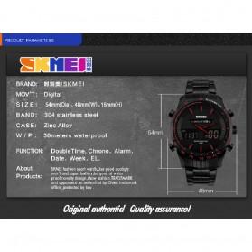SKMEI Jam Tangan Digital Analog Pria - 1311 - Black/Red - 4