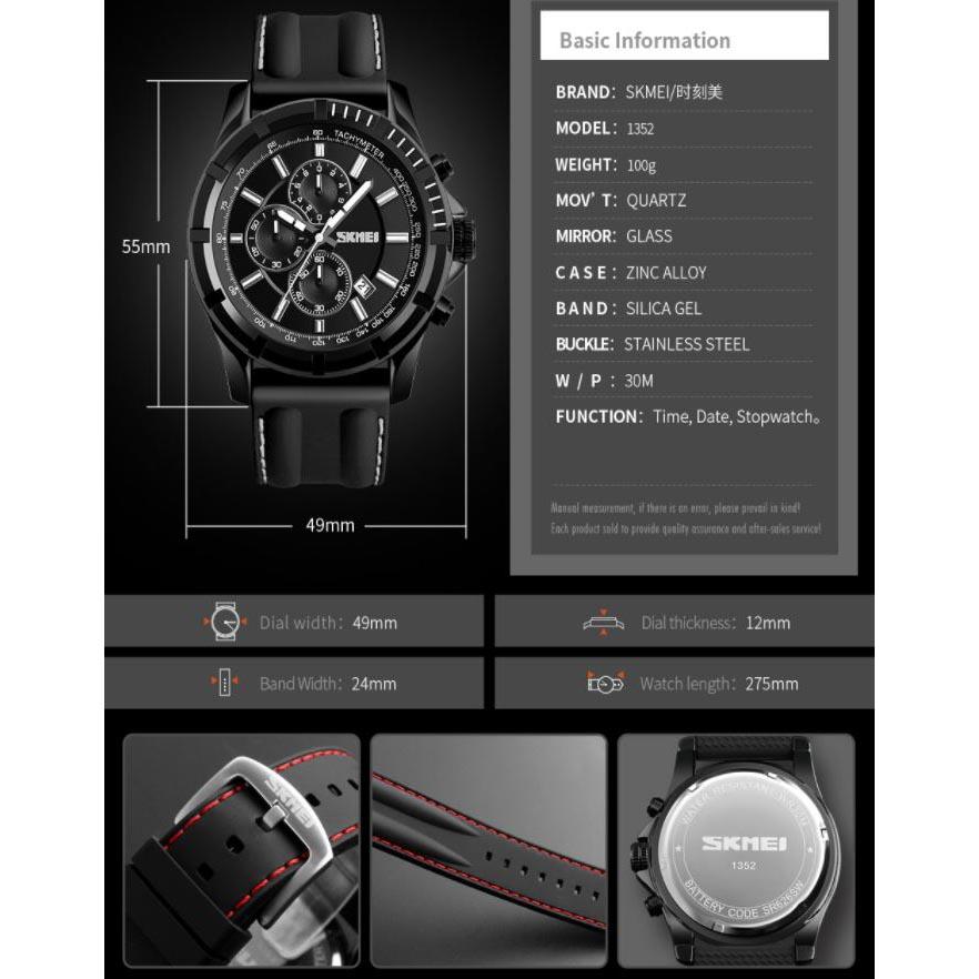 Olahraga Smartwatch Bluetooth DG1245 BL Black Blue 5. Source · SKMEI Jam .