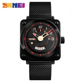 SKMEI Jam Tangan Analog Pria Stainless Steel - 9172 - Black/Red