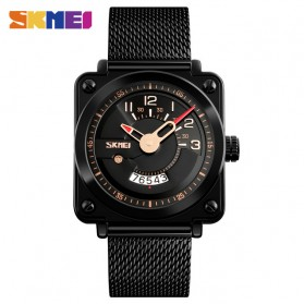 SKMEI Jam Tangan Analog Pria Stainless Steel - 9172 - Black Gold