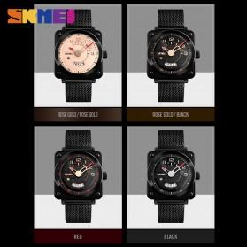 SKMEI Jam Tangan Analog Pria Stainless Steel - 9172 - Rose Gold - 3