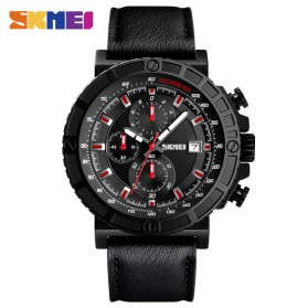 SKMEI Jam Tangan Analog Pria - 1350 - Black/Red