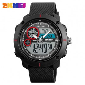 SKMEI Jam Tangan Digital Analog Pria - 1361 - Black/Red