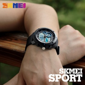 SKMEI Jam Tangan Digital Analog Pria - 1361 - Black/Red - 3