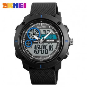 SKMEI Jam Tangan Digital Analog Pria - 1361 - Black Blue