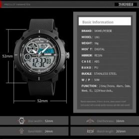 SKMEI Jam Tangan Digital Analog Pria - 1361 - Black Blue - 6