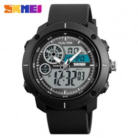 SKMEI Jam Tangan Digital Analog Pria - 1361 - Black