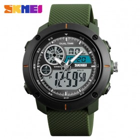 SKMEI Jam Tangan Digital Analog Pria - 1361 - Army Green
