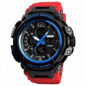 SKMEI Jam Tangan Analog Digital Pria - 1343 - Blue/Red