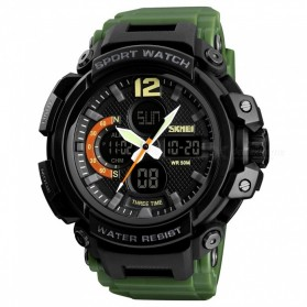 SKMEI Jam Tangan Analog Digital Pria - 1343 - Army Green