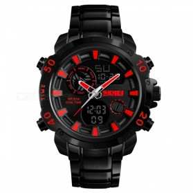 SKMEI Jam Tangan Digital Analog Pria - 1306 - Black/Red