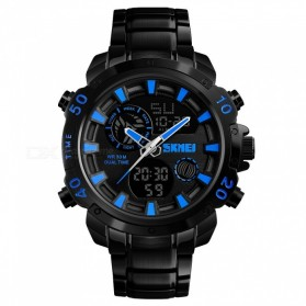 SKMEI Jam Tangan Digital Analog Pria - 1306 - Black/Blue