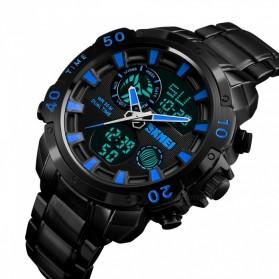 SKMEI Jam Tangan Digital Analog Pria - 1306 - Black/Blue - 4