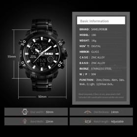 SKMEI Jam Tangan Digital Analog Pria - 1306 - Black - 6