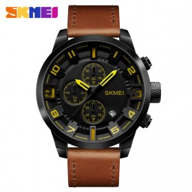 SKMEI jam Tangan Analog Chrono Pria - 1309 - Yellow